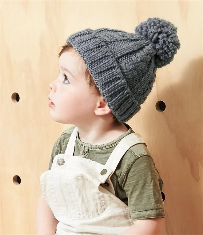 Beechfield Infant Cable Knit Melange Beanie