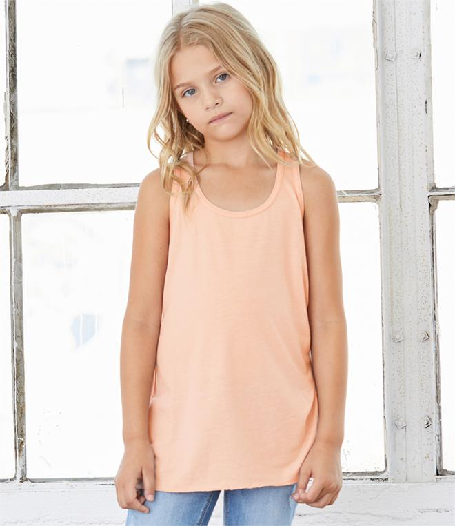 Bella Youth Flowy Racer Back Tank Top