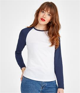SOLS Ladies Milky Contrast Long Sleeve T-Shirt