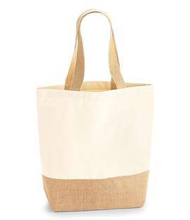 Westford Mill Jute Base Canvas Shopper