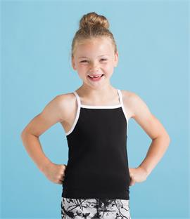 CLEARANCE - SF Minni Kids Feel Good Stretch Contrast Strappy Vest