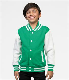 AWDis Just Hoods Kids Varsity Jacket