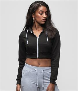 AWDis Just Hoods Girlie Cropped Zoodie