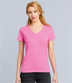 Gildan Ladies Premium Cotton V Neck T-Shirt