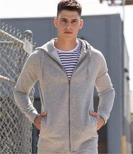Skinnifit Unisex Slim Fit Zip Hooded Sweatshirt