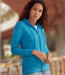 Fruit of the Loom Lady Fit Lightweight Zip Hoodie