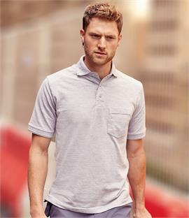 Russell Cotton Pique Pocket Polo Shirt
