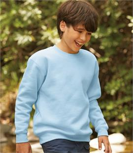98febb03f8fa Fruit of the Loom Kids Premium Drop Shoulder Sweatshirt