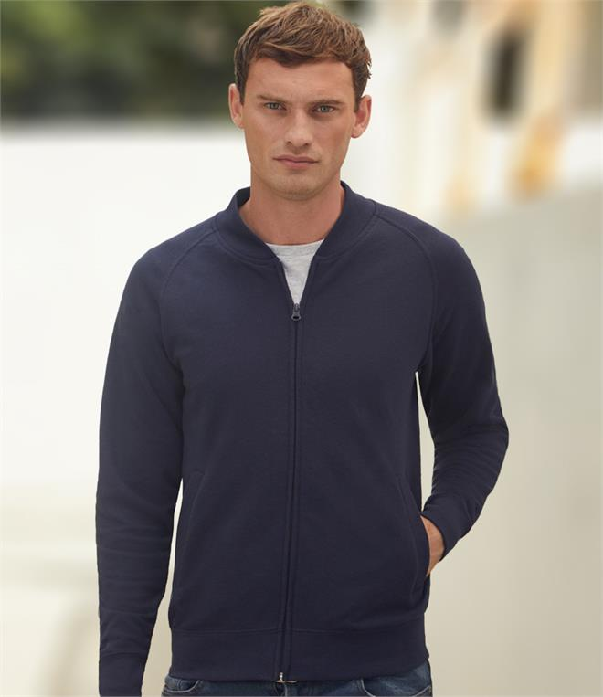DISCONTINUED - Fruit of the Loom Lightweight Baseball Sweat Jacket