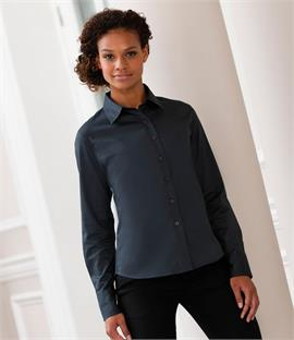 Russell Collection Ladies Long Sleeve Classic Twill Shirt