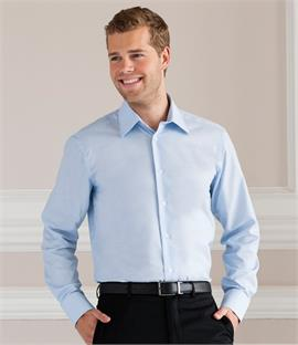 Russell Collection Long Sleeve Tailored Oxford Shirt