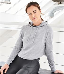 AWDis Cool Girlie Cross Back Cropped Hoodie