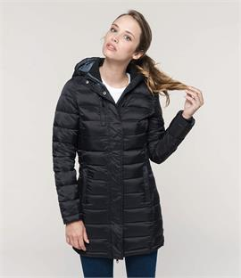 Kariban Ladies Lightweight Long Padded Parka Jacket