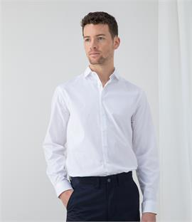 Henbury Long Sleeve Stretch Poplin Shirt