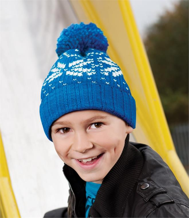 DISCONTINUED - Beechfield Kids Fair Isle Beanie