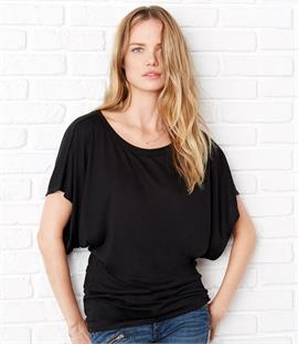 Bella Flowy Draped Sleeve Dolman T-Shirt
