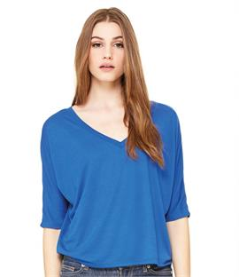 Bella Flowy V Neck Crop T-Shirt