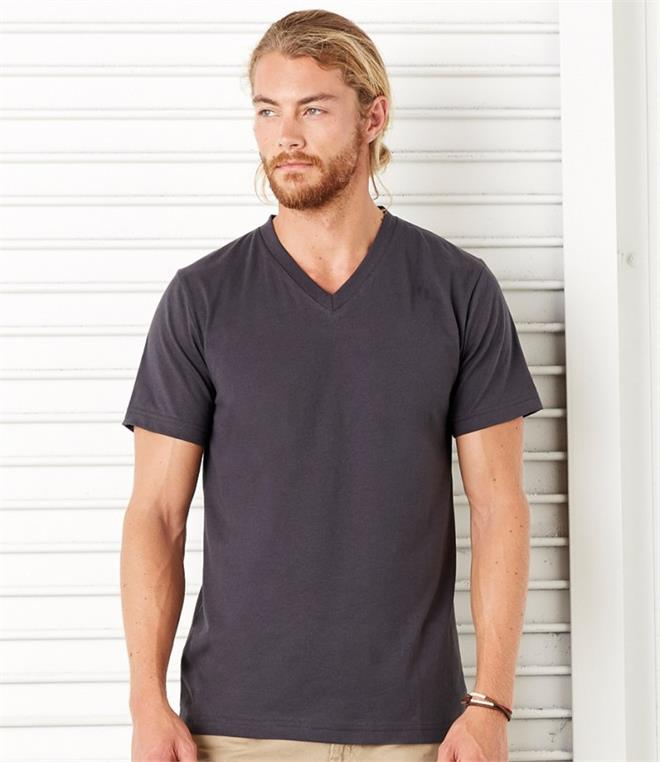 Canvas Jersey V Neck T-Shirt