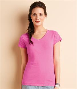 Gildan SoftStyle Ladies V Neck T-Shirt