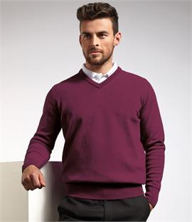 Glenmuir Golf V Neck Lambswool Sweater