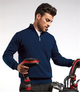 Glenmuir Golf Zip Neck Lambswool Sweater