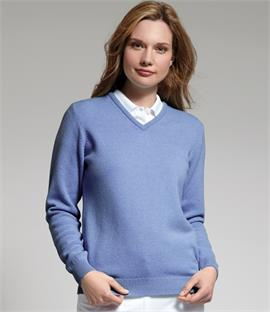 Glenmuir Golf Ladies V Neck Lambswool Sweater