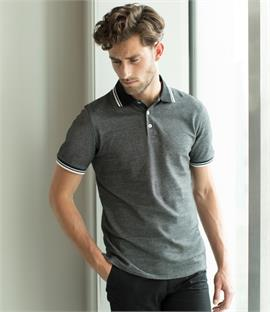 Henbury Two-Tone Tipped Pique Polo Shirt