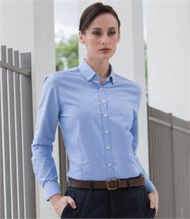 Henbury Ladies Modern Long Sleeve Regular Fit Oxford Shirt