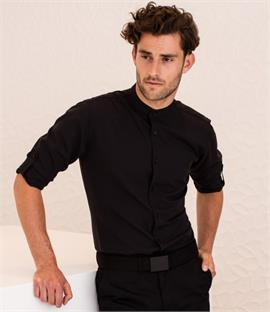 Henbury Mandarin Roll Sleeve Anti-Bac Wicking Shirt