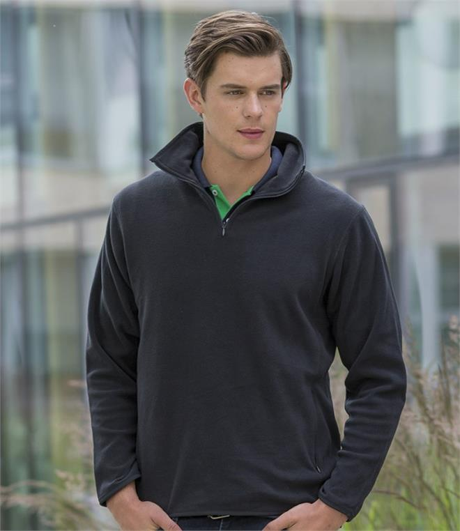 DISCONTINUED - Henbury Zip Neck Inner Micro Fleece