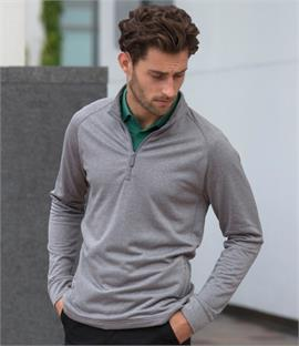 Henbury Zip Neck Top