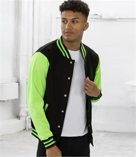 AWDis Just Hoods Electric Varsity Jacket
