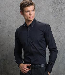 Kustom Kit Premium Long Sleeve Slim Fit Oxford Shirt