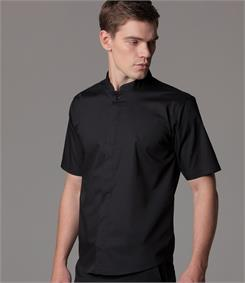 Kustom Kit Bargear Short Sleeve Mandarin Collar Shirt