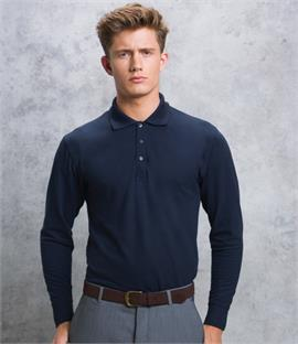 Kustom Kit Long Sleeve Poly/Cotton Pique Polo Shirt