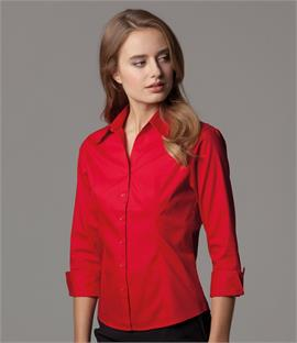 Kustom Kit Ladies 3/4 Sleeve Corporate Oxford Shirt