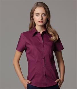 Kustom Kit Ladies Short Sleeve Corporate Oxford Shirt with Pocket