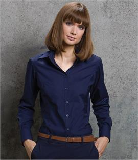 Kustom Kit Ladies Long Sleeve Business Shirt
