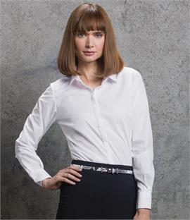 Kustom Kit Ladies Long Sleeve Contemporary Business Shirt