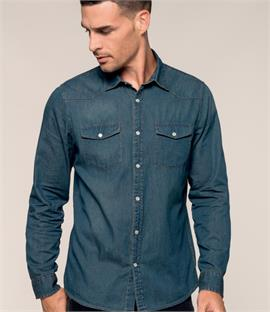 Kariban Long Sleeve Denim Shirt