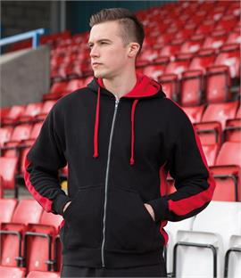 Finden & Hales Contrast Zip Hooded Sweatshirt