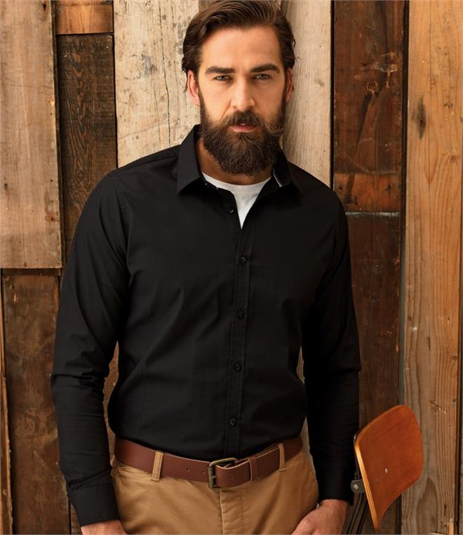 DISCONTINUED - Premier Long Sleeve Fitted Friday Shirt