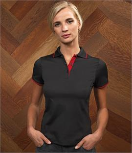 Premier Ladies Contrast Coolchecker Polo Shirt