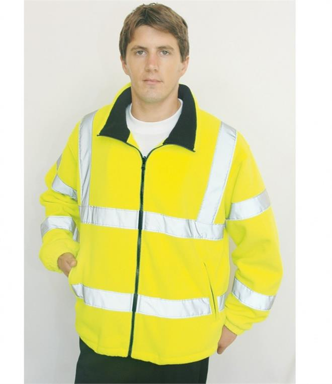 DISCONTINUED - Portwest Hi-Vis Mesh Lined Fleece Jacket