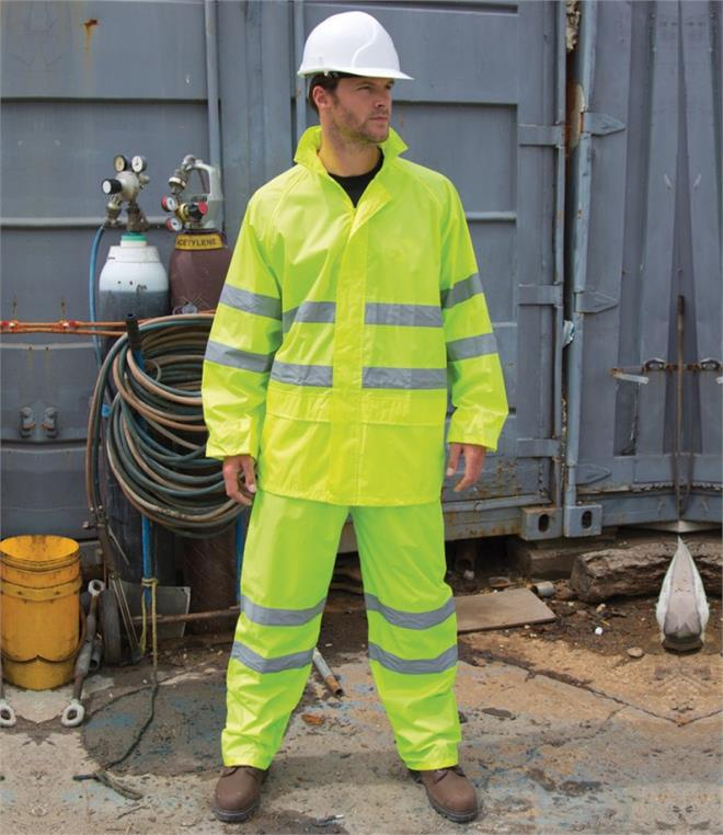 Result Safeguard Hi-Vis Waterproof Suit
