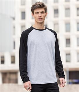 Skinnifit Men Long Sleeve Baseball T-Shirt