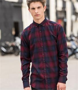 Skinnifit Men Brushed Check Casual Shirt