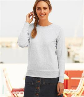 Fruit of the Loom Lady Fit Lightweight Raglan Sweatshirt