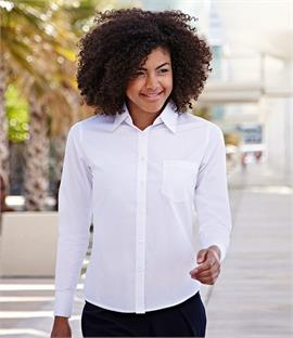Fruit of the Loom Lady Fit Long Sleeve Poplin Shirt