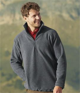 Fruit of the Loom Zip Neck Outdoor Fleece
